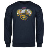 Navy Fleece Crew-2016 MEAC Champions Womens Basketball