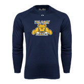 Under Armour Navy Long Sleeve Tech Tee-NC A&T Aggies