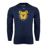 Under Armour Navy Long Sleeve Tech Tee-Bulldog Head