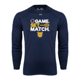Under Armour Navy Long Sleeve Tech Tee-Tennis Game Set Match