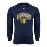 Under Armour Navy Long Sleeve Tech Tee-2016 MEAC Champions Womens Basketball