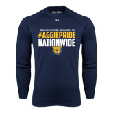Under Armour Navy Long Sleeve Tech Tee-#AggiePride Nationwide
