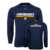 Under Armour Navy Long Sleeve Tech Tee-#OnTheChas3 Front Graphic