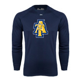 Under Armour Navy Long Sleeve Tech Tee-AT