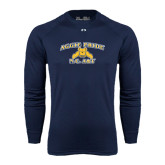 Under Armour Navy Long Sleeve Tech Tee-Aggie Pride