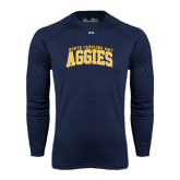 Under Armour Navy Long Sleeve Tech Tee-Arched North Carolina A&T Aggies