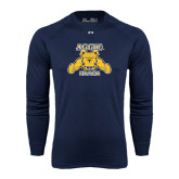 Under Armour Navy Long Sleeve Tech Tee-Track