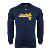 Under Armour Navy Long Sleeve Tech Tee-Baseball Bat