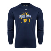 Under Armour Navy Long Sleeve Tech Tee-Basketball in Ball