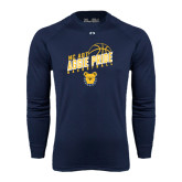 Under Armour Navy Long Sleeve Tech Tee-Basketball Pride