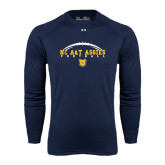 Under Armour Navy Long Sleeve Tech Tee-Arched Football