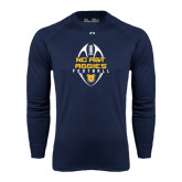 Under Armour Navy Long Sleeve Tech Tee-Tall Football