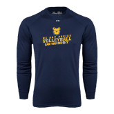Under Armour Navy Long Sleeve Tech Tee-Volleyball Can You Dig It