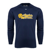 Under Armour Navy Long Sleeve Tech Tee-Softball Script