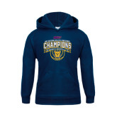 Youth Navy Fleece Hoodie-2016 MEAC Champions Womens Basketball