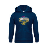 Youth Navy Fleece Hood-2016 MEAC Champions Womens Basketball