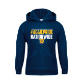 Youth Navy Fleece Hoodie-#AggiePride Nationwide