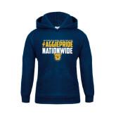 Youth Navy Fleece Hoodie-#AggiePride Nationwide