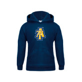 Youth Navy Fleece Hoodie-AT
