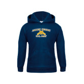 Youth Navy Fleece Hoodie-Aggie Pride
