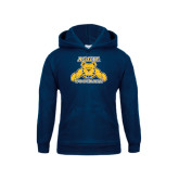 Youth Navy Fleece Hoodie-Football