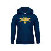 Youth Navy Fleece Hoodie-Baseball Crossed Bats