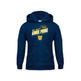 Youth Navy Fleece Hoodie-Basketball Pride