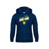 Youth Navy Fleece Hoodie-Basketball Pride