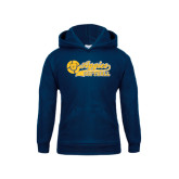 Youth Navy Fleece Hoodie-Softball Script