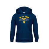 Youth Navy Fleece Hoodie-Swim & Dive Butterfly Swimmer