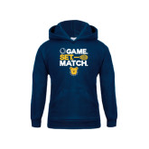 Youth Navy Fleece Hoodie-Tennis Game Set Match