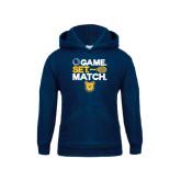Youth Navy Fleece Hoodie-Tennis Game Set Match