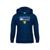 Youth Navy Fleece Hoodie-Tennis Player