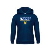 Youth Navy Fleece Hoodie-Tennis Player