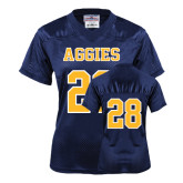 Ladies Navy Replica Football Jersey-#28