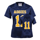 Ladies Navy Replica Football Jersey-#11