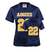 Ladies Navy Replica Football Jersey-#22