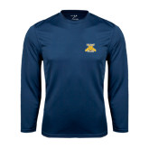 Syntrel Performance Navy Longsleeve Shirt-NC A&T Aggies