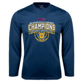 Syntrel Performance Navy Longsleeve Shirt-2016 MEAC Champions Womens Basketball