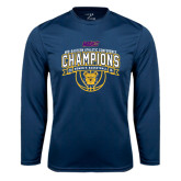 Performance Navy Longsleeve Shirt-2016 MEAC Champions Womens Basketball