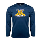 Performance Navy Longsleeve Shirt-NC A&T Aggies