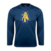 Performance Navy Longsleeve Shirt-AT
