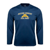 Syntrel Performance Navy Longsleeve Shirt-Aggie Pride