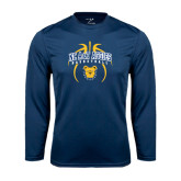 Syntrel Performance Navy Longsleeve Shirt-Basketball in Ball