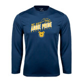 Performance Navy Longsleeve Shirt-Basketball Pride