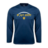 Performance Navy Longsleeve Shirt-Arched Football
