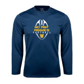 Performance Navy Longsleeve Shirt-Tall Football