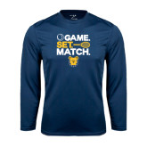 Syntrel Performance Navy Longsleeve Shirt-Tennis Game Set Match