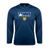 Performance Navy Longsleeve Shirt-Tennis Player