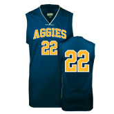 Replica Navy Adult Basketball Jersey-#22
